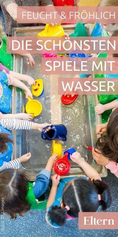 Moist & happy - play with water- Feucht & fröhlich – Spiele mit Wasser Whether alone, with a friend or in a … - Family Activities, Preschool Activities, Happy Play, Outdoor Games For Kids, Jouer, Kids And Parenting, Diy For Kids, Kids Playing, Baby Kids
