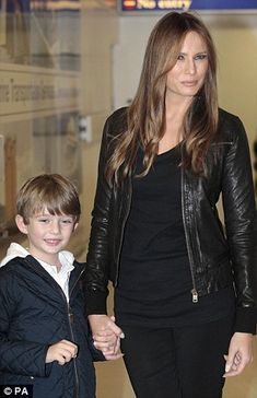 Donald's 3rd wife. Melania Trump with son Barron