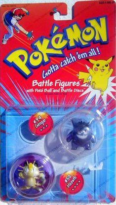 Pokemon Battle Figures Gengar & Meowth with Poke Ball and Battle Disks Gen 1 Pokemon, Pokemon Toy, Pokemon Games, Pokemon Birthday Cake, Papercraft Pokemon, Pikachu Cake, Pokemon Merchandise, Birthday List, Classic Toys