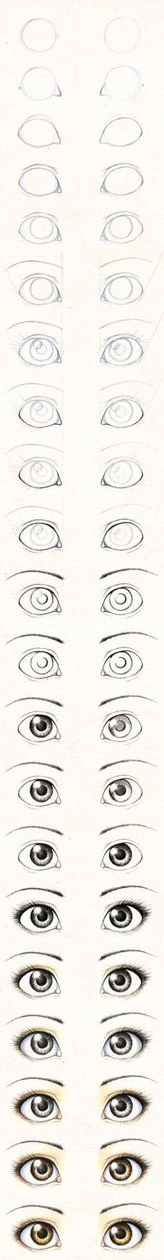 Рисуем глаза текстильной кукле / Tutorial: Draw eyes for textile doll #diy #painting #doll: