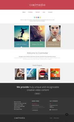 'Coolmedia Videographer' #Website Template http://zign.nl/48030
