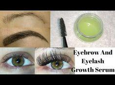 Grow Long, Thick & Strong Eyebrows & Eyelashes In Just 5 Days | DIY Eyelash & Eyebrows Growth Serum - YouTube