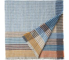 Warm, honeycomb knit Shetland throw in soft heathery tones. Woven in a mill in Lancashire.