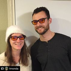 #Repost @tmonda ・・・ Sister @mondomal and I rocking the #swannies blue blocking glasses from @swanwicksleep . Blue light at night from your phone and other devices will disrupt your sleep by suppressing melatonin production. Look it up! It's real. Then buy some swannies, they're actually awesome looking too  @jamesswanwick