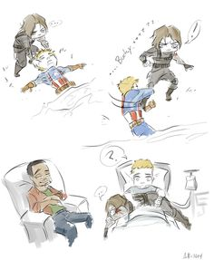 Captain America: Winter Soldier spoilers. Steve Rogers's amazing grip would have made for a much more adorable movie ending. Even Sam Wilson finds it cute.