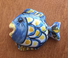 Santo Marino was a fisherman. Ceramic fish from Maratea, Basilicata on research trip in Italy. www.marianneperry.ca