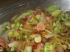 Bacon Cabbage Stir-Fry - Added Chicken is great too