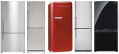 """You know how some refrigerators are so deep that they stick out past the counter? Well, there is a whole genre of the appliance out there that is made to fit flush with the depth of the counter, eliminating those awkward ins-and-outs in the kitchen. Problem is, most of them are at least 36"""" wide:"""