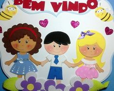 Placa bem vindos Meninos em e.v.a Inspirational Bulletin Boards, Leather Quiver, Diy And Crafts, Arts And Crafts, Animal Crafts For Kids, New Years Eve Party, Spring Crafts, Hello Kitty, Minnie Mouse