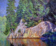 Garth Armstrong - Wolf Lake Kawarthas 30 x 36 Canadian Painters, Wolf, Landscapes, Painting, Art, Paisajes, Painting Art, A Wolf, Paintings