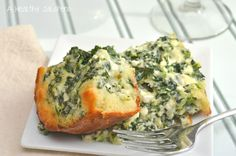 A Healthy Jalapeno: Light Spinach Breakfast Squares {SRC}