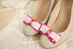 DIY shoe clips using ribbon and clip-on earring backs...this could have so many uses! The ones I like at stores always cost 15-20, so this is a cute alternative to dress up plain heels and flats.