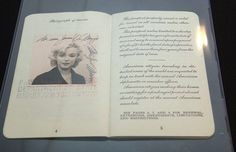 Marilyn Monroe. Even her 1954 passport photo is gorgeous.