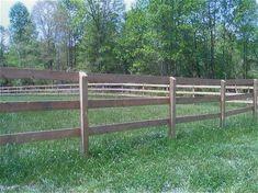 Farm & Horse Treated Wood Fence - goat fence