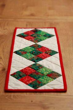 Square Patterned Christmas Table Runner