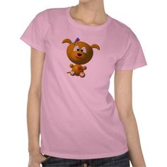 Dog: Cute dog with dragonfly! T Shirts. Lots more available tho!  Prices start at $26.35