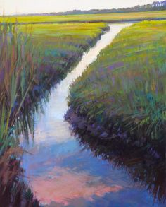 Cape Marsh Painting by Ed Chesnovitch
