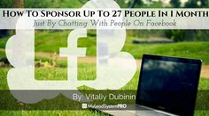 How To Sponsor Up To 27 People In 1 Month Just By Chatting With People On Facebook www.sta.cr/2NwQ3 #mlm