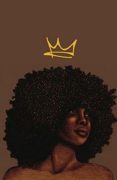 Worry 'bout you - Crown Serie Black Love Art, Black Girl Art, Black Is Beautiful, Black Girl Magic, Art Girl, Black Art Painting, Black Artwork, Drawings Of Black Girls, Arte Van Gogh