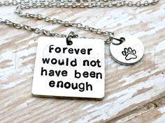 Pet Loss Gifts Pet Loss Necklace Pet Loss by TooStampingCutebyJK