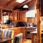 Rustic Cabin - Galley Kitchen - Rustic - Kitchen - portland - by Julia Williams, ASID