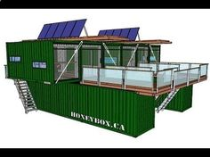 Container House - HoneyBox INC. shipping container architecture - Who Else Wants Simple Step-By-Step Plans To Design And Build A Container Home From Scratch? Shipping Container Buildings, Cargo Container Homes, Shipping Container Home Designs, Shipping Container House Plans, Storage Container Homes, Building A Container Home, Shipping Containers, Container Home Plans, Container Design