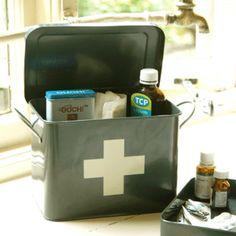 First Aid Box - Slate