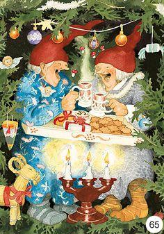 29 Ideas Illustration Art Funny Inge Look Art And Illustration, Illustrations, Christmas Art, Vintage Christmas, Old Lady Humor, Nordic Art, Scandinavian Christmas, Whimsical Art, Yule