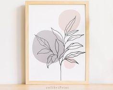 Fern leaves print Fern print download Botanical poster One | Etsy Minimalist Painting, Minimalist Art, Minimalist Poster, Plant Painting, Plant Drawing, Botanical Line Drawing, Drawing Frames, Abstract Line Art, Botanical Prints