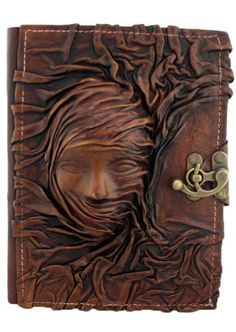 3D Scarfed Woman Sculpture on a Brown Handmade Leather Bound Journal LO105 by ALittlePresent.com, http://www.amazon.com/dp/B007EQYFM2/ref=cm_sw_r_pi_dp_B1vuqb0DZNWT5