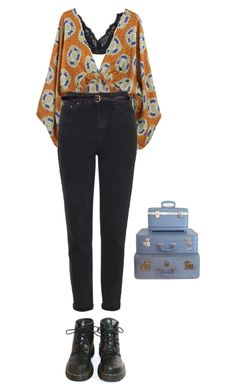 """easy"" by julietteisinthe80s ❤ liked on Polyvore featuring Talula, Topshop, H&M, Dr. Martens and Retrò"