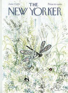 size: Premium Giclee Print: The New Yorker Cover - June 1970 by Ronald Searle : The New Yorker, New Yorker Covers, Magazine Illustration, Illustration Art, Capas New Yorker, Ronald Searle, Magazine Art, Magazine Covers, Flow Magazine