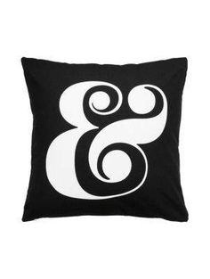 cotton ampersand decorative pillow - kate spade new york