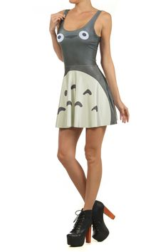 Totoro Skater Dress http://www.poprageous.com/collections/geek-chic/products/totoro-skater-dress