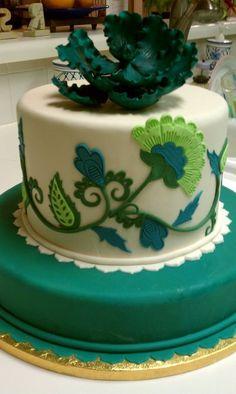 Emerald Green Jacobean Cake