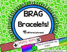 Back to School: Teacher Tips for classroom management! student brag bracelets help to motivate students!