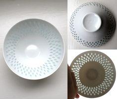 Modernist Porcelain Rice Bowl Arabia by VintageModernAndMore