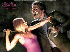 Jo Chen : Buffy the Vampire Slayer Comics Covers Wallpapers   - Cover Art of Buffy the Vampire Slayer Wallpaper   11