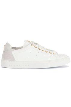 """Gave Philipp Plein Sneaker """"Lily"""" white (wit) Dames sneakers van het merk philipp plein . Uitgevoerd in wit."""
