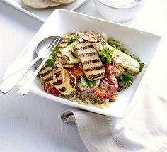 Roasted tomato, halloumi & quinoa salad - BBCGF