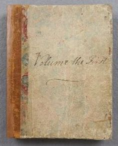 ✍ Jane Austen ✍  'Volume the First' of Jane Austen's Juvenilia manuscripts, which includes her very early writings.