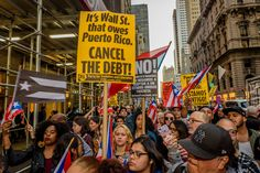 Call to Action in Puerto Rico and Pro Libertad called for a picket/rally on October 3, 2017; in front of the Trump Tower in Manhattan. Hundreds took to the streets in solidarity with the groups in Puerto Rico mobilizing to protest Trump's first visit after hurricane Mary.