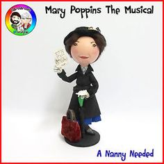 Mary Poppins the musical - Nanny Needed peg doll from FaBi DaBi Dolls