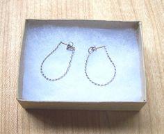 Vintage Silver Chain Post Earrings