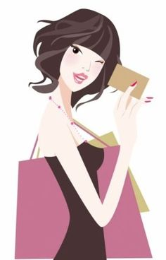 dibujos animados,mujeres de la vergüenza,mujeres,ilustración,bolsos de compras,pintado a mano