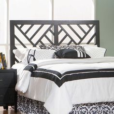 Contemporary Queen/Full Bed Headboard transitional-headboards