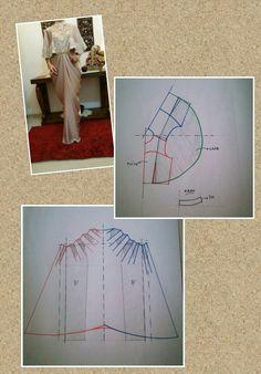 Sewing Dress Free Pattern Circle Skirts New Ideas Pattern Paper, Fabric Patterns, Clothing Patterns, Sewing Patterns, Skirt Patterns, Pattern Cutting, Pattern Making, Sewing Tutorials, Sewing Projects