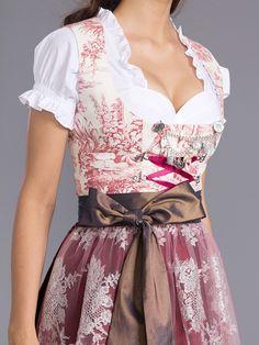 #Farbbberatung #Stilberatung #Farbenreich mit www.farben-reich.com Midi-Dirndl in creme/ rot/ braun