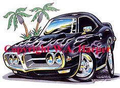 pontiac signs   Signed and number limited edition print by artist Bill Harper