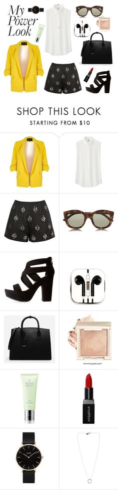 """Woman Power"" by theredheadedgirl ❤ liked on Polyvore featuring River Island, Uniqlo, Keepsake the Label, Le Specs, Bamboo, PhunkeeTree, CHARLES & KEITH, Molton Brown, Smashbox and CLUSE"